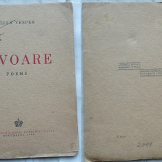 Iulian Vesper, Izvoare, Poeme, 1942, prima editie, 1 - Carte Editie princeps