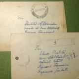 2 Plicuri circulate vechi 1956, din care unul recomandat