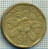 4991  MONEDA  - SINGAPORE  - 1 DOLLAR  - ANUL  1989  -starea care se vede