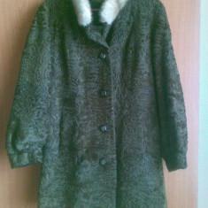 Palton astrahan din blana naturala nemtesc marimea 54, este nou! - Palton dama, Culoare: Maro, Piele