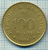 4943  MONEDA  - ARGENTINA  - 100 PESOS  - ANUL  1978  -starea care se vede