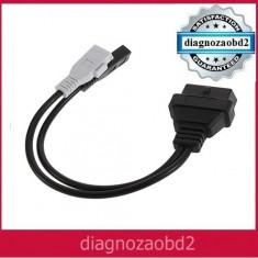 Cablu adaptor tester diagnoza auto VW, Audi, Seat, Skoda, 2x2 - OBD2