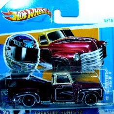 HOT WHEELS-TREASURE HUNT-'55 CHEVY PICK-UP-++2501 LICITATII !! - Macheta auto Hot Wheels, 1:64