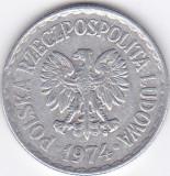 Moneda Polonia 1 Zlot 1974 - KM#49.1 VF, Europa