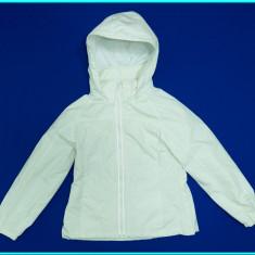 Geaca primavara—toamna, impermeabila, calitate H&M → fete | 8—9 ani | 128—134 cm, Marime: Alta, Culoare: Alb