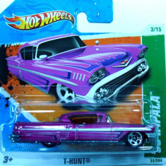 HOT WHEELS-TREASURE HUNT-'58 CHEVY IMPALA-++2501 LICITATII !! - Macheta auto Hot Wheels, 1:64