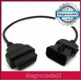 Cablu adaptor diagnoza auto Opel Vectra , Corsa , 10pini - OBD2 pt. Delphi ds150