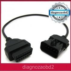 Cablu adaptor diagnoza auto Opel, 10pini - OBD2 pt. Delphi ds150