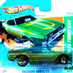 HOT WHEELS-TREASURE HUNT-'71 FORD MUSTANG FUNNY CAR-++2501 LICITATII !! - Macheta auto Hot Wheels, 1:64