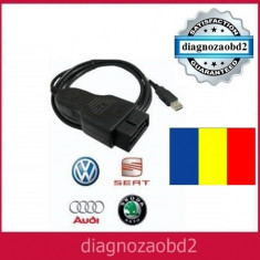 Interfata diagnoza tester VAG COM 14.10 Limba romana - VW Audi Skoda Seat 2014 - Interfata diagnoza auto