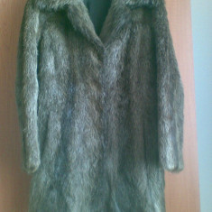 Palton din blana naturala de nutrie marimea 40, este ca nou, este nemtesc! - haina de blana
