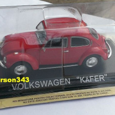 Macheta DeAgostini - Volkswagen Kafer (Broscuta) +revista Masini de Legenda - Macheta auto, 1:43