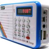 Radio Portabil cu Card player mp3 si Microfon ( Reportofon)