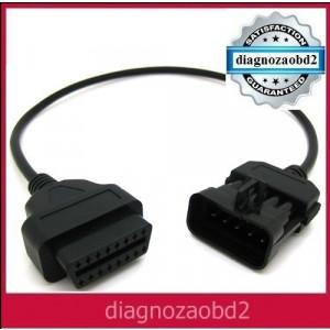 Cablu adaptor diagnoza auto tester Opel , 10pini  OBD2 Delphi ds150