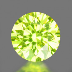 >> DIAMANT NATURAL GALBEN-VERZUI - 0, 083ct. - 2, 75 mm - certificat de autenticitate SUPERB ! ! !, Briliant