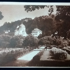 Brasov - Parcul si Biserica Greco - Orientala - cenzurat Lugoj - circulat 1945