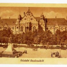 Carte postala - ARHITECTURA, PEISAJ - Kecskemet - Piata centrala - Ungaria, scrisa, anii 1920 - 2+1 gratis toate produsele la pret fix - RBK3974, Europa, Circulata, Fotografie