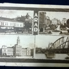 Arad - vederi - Florescu Craiova - cenzurata Lugoj - circulata - Carte Postala Crisana dupa 1918