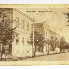 Carte postala - ARHITECTURA - Munkacs - Gimnaziul - azi Ucraina - circulata 1914 - RARA - 2+1 gratis toate produsele la pret fix - RBK3983, Europa, Fotografie