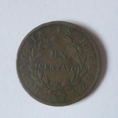 RAR! 1 CENTAVO 1853 CHILE - Moneda Medievala