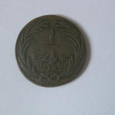 REDUCERE 50 LEI! RAR! 1/4 REAL 1834 PRIMA REPUBLICA MEXICANA - Moneda Medievala, America Centrala si de Sud