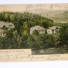 Carte postala - ARHITECTURA, PEISAJ - Karlsbad - circulata Germania, 1905 - 2+1 gratis toate produsele la pret fix - RBK3970, Europa, Printata