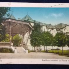 Sinaia - Pavilionul Muzicei cu Palace Hotel - circulata