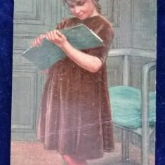 Degi - pictura nr 519 - Fata Frumoasa - vedere pictura in relief - necirculata