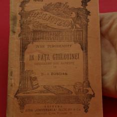 Carte - biblioteca pentru toti - Ivan Turghenieff ( Ivan Turgheniev ) - in fata ghilotinei - 96 pagini - Carte veche
