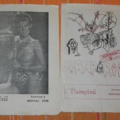 2 NUMERE REVISTA VAMPIRII 1990 NR 4 SI 5. CONTIN NUVELA LABIRINTUL DE DONALD CHETWYND-HAYES