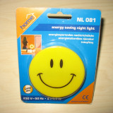 Lampă de veghe cu led-uri Happy Face (220V) - Lampa veghe copii, Galben