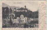 B76231 Sinaia Baile Si manastirea 1900 Magazin Ambulant Matheescu colt dreapta