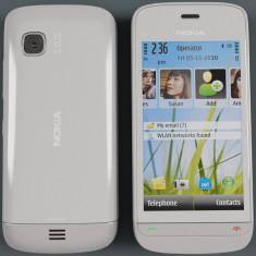 Nokia c5-03 stare foarte buna - Telefon mobil Nokia C5-03, Alb, Neblocat