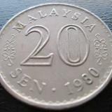 (171) MALAYSIA 20 SEN 1980