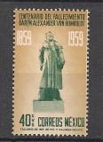 Mexic.1960 Comemorare A. von Humboldt-naturalist  SM.365