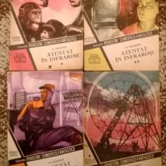 Colectia Povestiri Stiintifico-Fantastice-Volumele Atentat in infrarosu-4 Parti - Carte de colectie