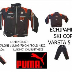 ECHIPAMENT COPII SKI, MARCA PUMA MARIMEA XXL, VARSTA 5 ANI, LIVRARE GRATUITA IN TOATA TARA - Echipament ski, Costum