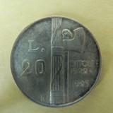 MEDALIE (FANTASY COIN) PLACATA CU ARGINT - 20 LIRE - 1943 - BENITO MUSSOLINI - RARITATE - STARE EXCEPTIONALA, Europa