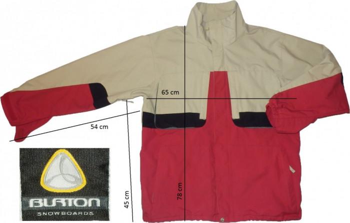 Jacheta ski schi snowboard BURTON membrana ventilatii (XL spre L) cod-145025 foto mare