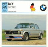 138 Foto Automobilism - BMV 2002 TURBO - GERMANIA - 1973-1974 -pe verso date tehnice in franceza -dim.138X138 mm -starea ce se vede