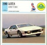 122 Foto Automobilism - LOTUS ESPRIT TURBO - Marea Britanie - 1980 -pe verso date tehnice in franceza -dim.138X138 mm -starea ce se vede