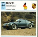 134 Foto Automobilism - PORSCHE 911 TURBO (3 litres) - GERMANIA - 1975-1977 -pe verso date tehnice in franceza -dim.138X138 mm -starea ce se vede