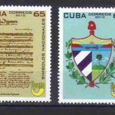 CUBA 2010, Simboluri nationale, serie neuzata, MNH - Timbre straine, Nestampilat