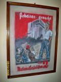 Tablou propaganda nazista Deutsches Reich zvastica