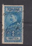 No(9)timbre-Romania  - Timbru fiscal- Ferdinand-2 LEI