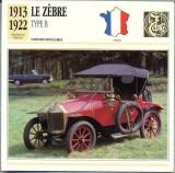 171 Foto Automobilism - LE ZEBRE TYPE B - FRANTA - 1913-1922 -pe verso date tehnice in franceza -dim.138X138 mm -starea ce se vede