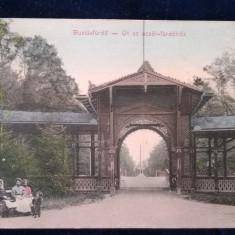Buzias - Intrarea in parc - Banat - circulata 1911