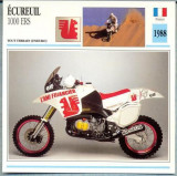 325 Foto Motociclism - ECUREUIL  1000 ERS - FRANTA -1988 -pe verso date tehnice in franceza -dim.138X138 mm -starea ce se vede