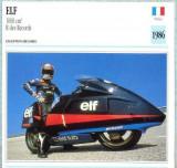 346 Foto Motociclism - ELF 1000 CM3 R DES RECORDS - FRANTA -1986 -pe verso date tehnice in franceza -dim.138X138 mm -starea ce se vede
