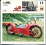 327 Foto Motociclism - MAJESTIC 500 CHAISE - FRANTA -1929 -pe verso date tehnice in franceza -dim.138X138 mm -starea ce se vede